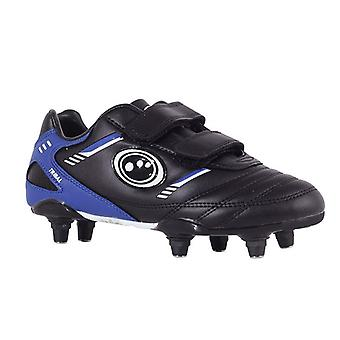 Tribal Junior Velcro Rugby Boots - Black/Blue