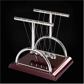 Klassisk Newton Cradle Balance Balls Craft - Science Psychology Gadget med