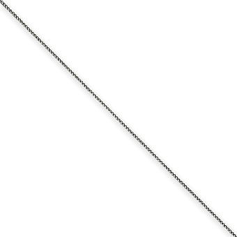 14k White Gold Solid Polished Lobster Claw Closure 1mm Spiga Chain Anklet Spring Ring Jewelry Gifts for Women - Length: