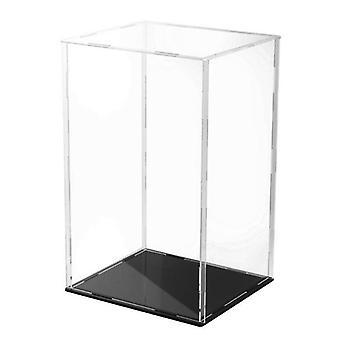 Clear Acrylique Display Case Black Base Dustproof Protection Modèle De protection Jouet Show Box