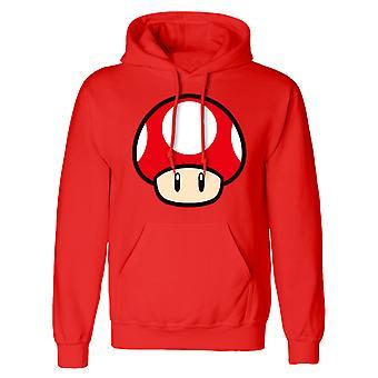 Super Mario Unisex Adult Power Up Mushroom Hoodie