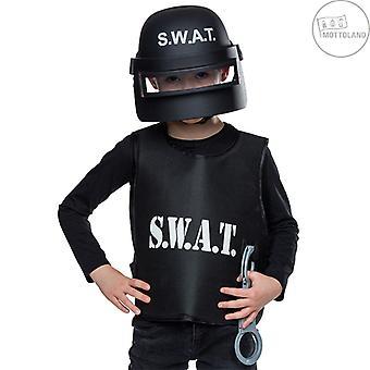 S.W.A.T. Helm Kinderen Helm Vizier Zwarte Vechter Beschermende Helm