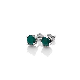 Anais Diamante Fierbinte Anais mai verde agat cercei AE005