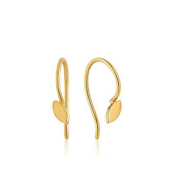 Ania Haie Sterling Silver Shiny Gold Plated Hook Earrings E008-06G