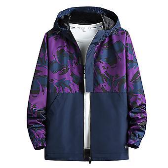 Allthemen Men's Hooded Autumn Jacket Zipper Camouflage Casual Sports Lightweight