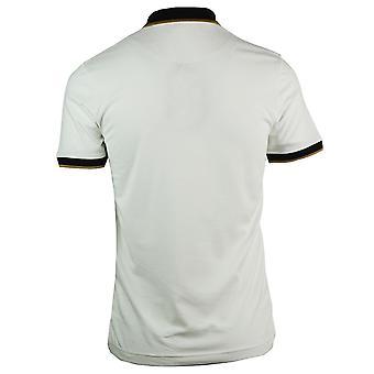 Roberto Cavalli Crest Logo White Polo Shirt