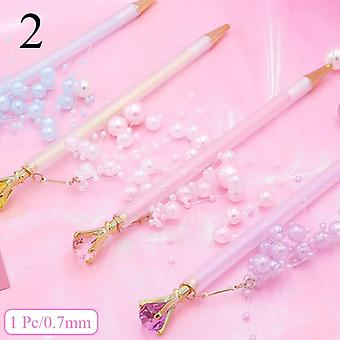 0.5/0.7mm Cute Diamond Mechanical Pencil, Pendant Automatic Pencil