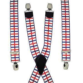 Solmiot Planet St George's Cross England Flag Men's Trouser Braces