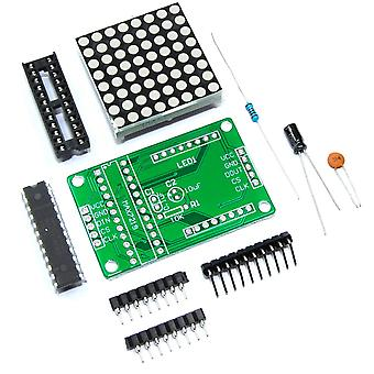 MAX7219 LED Serial Dot Matrix Unsoldered DIY Kit