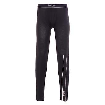 BOSS Bodywear Sustainable Stretch Cotton Black Long Johns