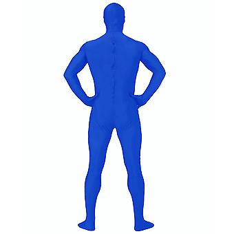 AltSkin Adult/Kids Full Body Stretch Fabric Zentai Suit - Zippered Back One Piece Stretch Suit Costume - Blue