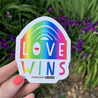 爱赢彩虹模切贴纸