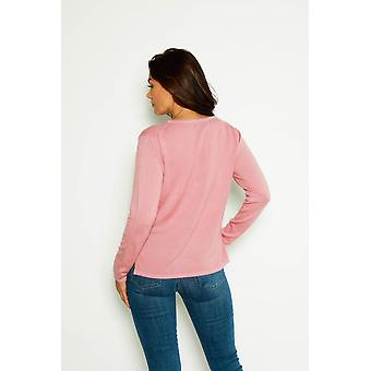 V-neckline sleeve cashmere sweater