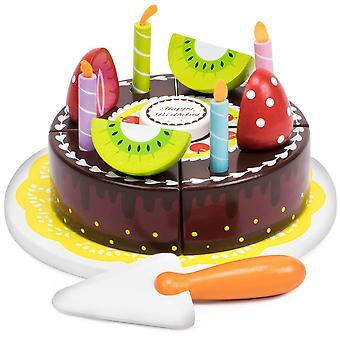 יום הולדת שמח מסיבת שוקולד עוגה