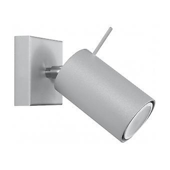 Ring grå stål væg lys 1 pære
