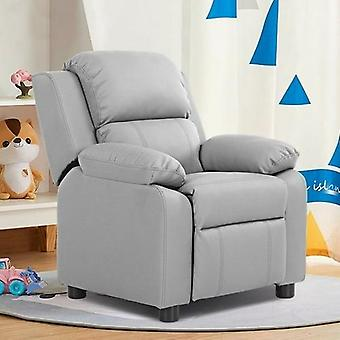 Kids Headrest Recliner Sofa Chair With Storage Arms Duty Wooden
