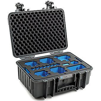 B&W GoPro Case Type 4000 for GoPro Hero 9 s pěnovou vložkou, šedá
