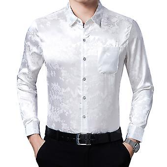 חולצת דש מודפסת לגברים של יאנגפאן