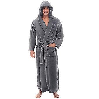 Winter Warm Robes Thick Lengthened Plush Shawl Bathrobe Kimono Home Clothes