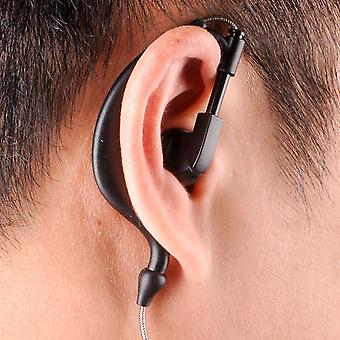 Walkie Talkie Uv 5r Earbuds Ptt With A Mic In-ear Hook Headphone