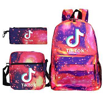 3Pcs Tik Tok School Bag Backpack Shoulder Bag For Boys Girls