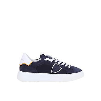 Philippe Model Btlurd01 Men's Blue Suede Sneakers
