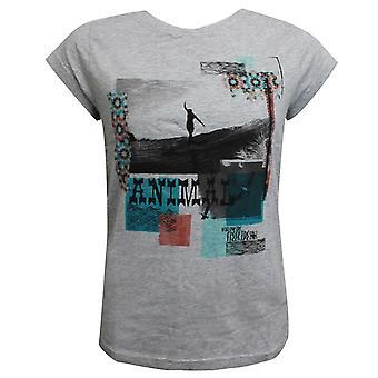 נשים בעלי חיים Anabell גרפיקה חולצת טריקו קיץ מזדמנים העליון אפור CL5SG305 103