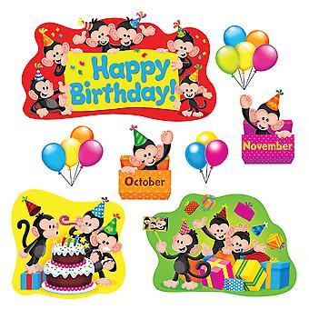 Conjunto del boletín de cumpleaños de Monkey Mischief
