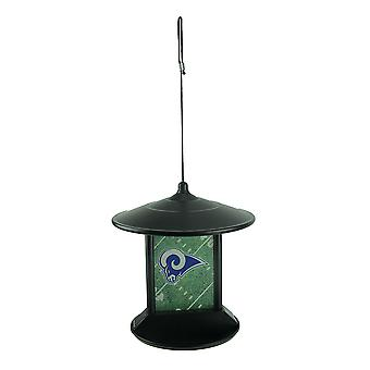 Los Angeles Rams Logo Solar Powered Hanging Birdfeeder