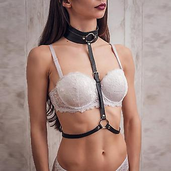 Body Bondage Cage Bra Pu Suspender Leather Harness Lingerie