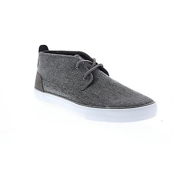 Andrew Marc Reade  Mens Gray Canvas Lifestyle Sneakers Shoes