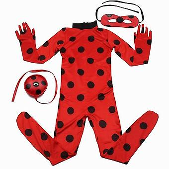 Lady bug kids Halloween costume full Lycra zentai suit