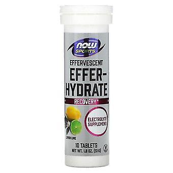 Now Foods, Sports, Effer-Hydrate, Lemon Lime, 10 Tablets, 1.8 oz (51 g)