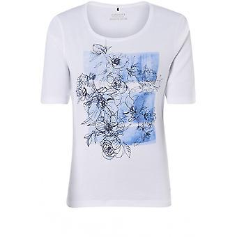 Olsen Blue Floral Design T-Shirt