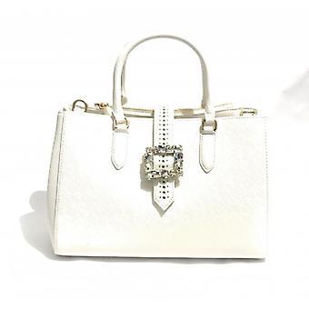 Women's Handbag/Shoulder strap Ermanno Scervino Ecopelle Bianco 3 Comp. Mod Cora Bs18es16