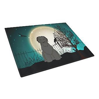 Caroline's Treasures Bb2271Lcb Halloween Spaventoso Briard Tagliere in vetro nero, grande, multicolore