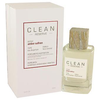 Clean Amber Saffron Eau De Parfum Spray By Clean 3.4 oz Eau De Parfum Spray