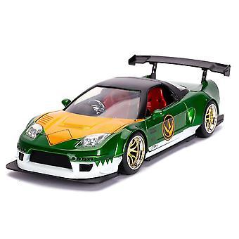 Power Rangers '02 Honda NSX Green 1:24 Scale Hollywood Ride
