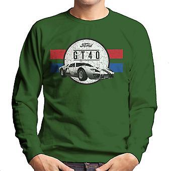 Ford GT 40 Gebarsten Esthetisch Heren Sweatshirt