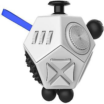 Fidget Cube Antistres Jucărie Alb/Negru
