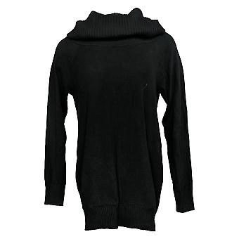 Colleen Lopez Women's Sweater Convertible Neck Pullover Black 724160