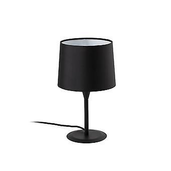 Lampe de table Noir fuselé rond, E27