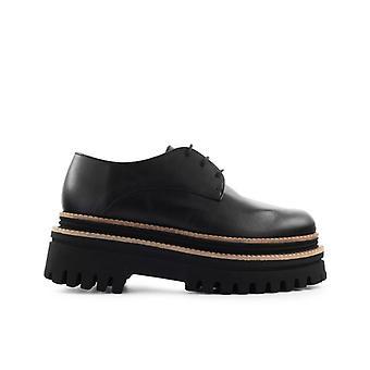 Paloma Barceló Kusa Black Platform Lace-up Shoe