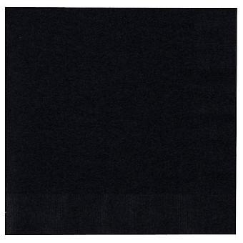 Ln 12/50Ct 2P servilleta de terciopelo negro