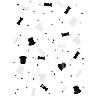 Zwart-witte Confettien