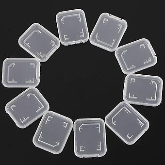 Transparent Memory Card Case Sd Sdhc Holder Plastic Storage Box For Standard Sd