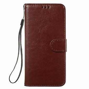 Etui na portfel ze skóry ochronnej do Samsung Galaxy S20 Plus 6.7 - Brązowy