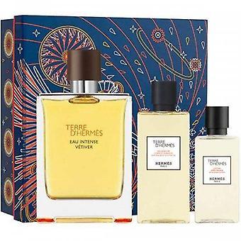 Hermes Terre D'Hermes Eau Intense Vetiver Giftset 3 Stück 220 ml