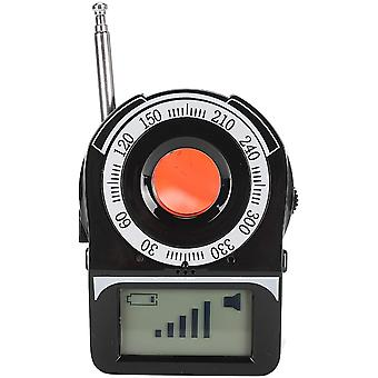 Multifunction Anti Spy Hidden Camera Detector RF Signal Detection Lens Reflection with Audio Alarm Micro Camera Detector (Black)