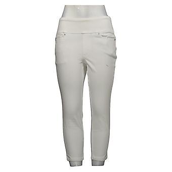Belle by Kim Gravel Flexibelle Women's Jeans Petite White A392575